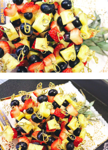 Fruit brochette aperitif