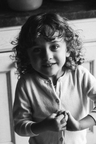 portrait enfant caractère noir et blanc