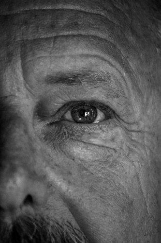 macro oeil homme