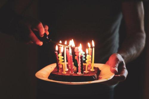 anniversaire bougie gateau