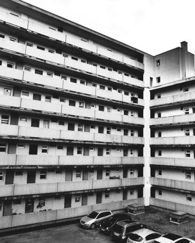 architecture facade noir et blanc