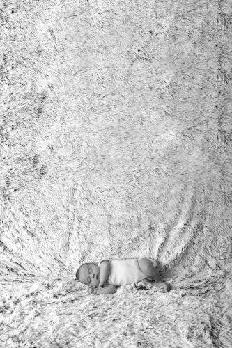 photographie naissance noir et blanc