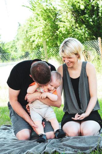 photographie famille enfant joie