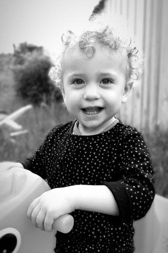 photographie enfant jeux noir et blanc