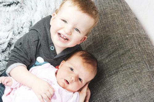 photographie frere soeur naissance