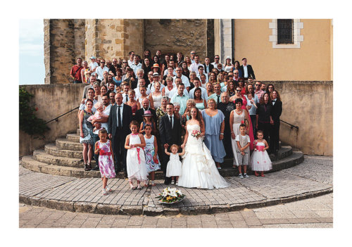 photographie groupe mariage