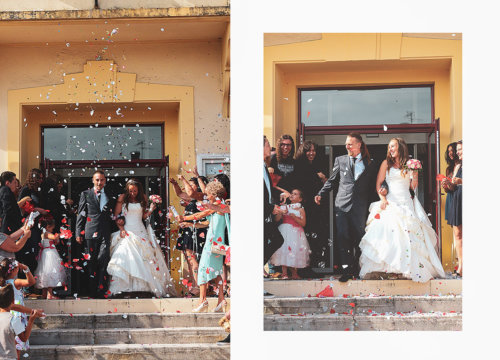 photographie sortie mairie couple mariage