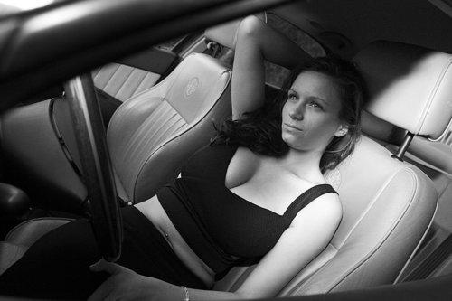 portrait voiture femme